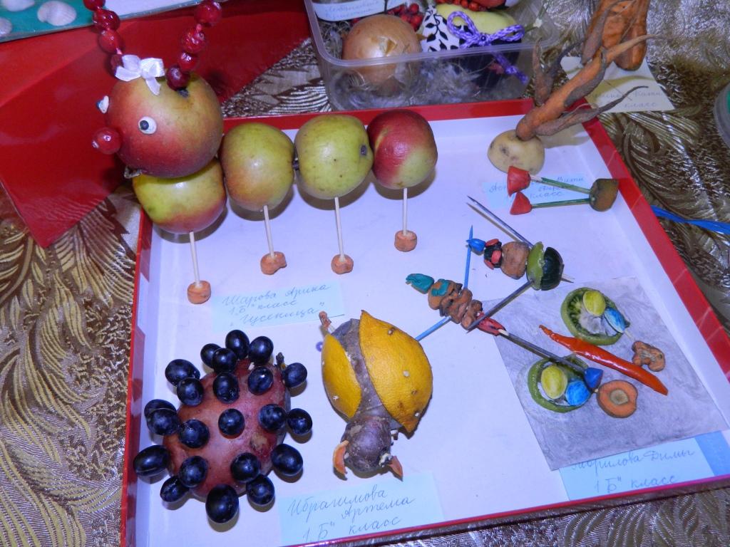 Поделка осень в садик из овощей 78